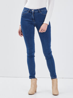 Jean slim taille standard denim stone femme