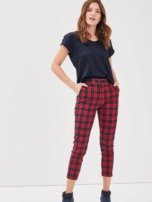 Pantalon ajuste 78eme rouge femme