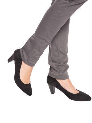 Escarpins contrefort paillete noir femme