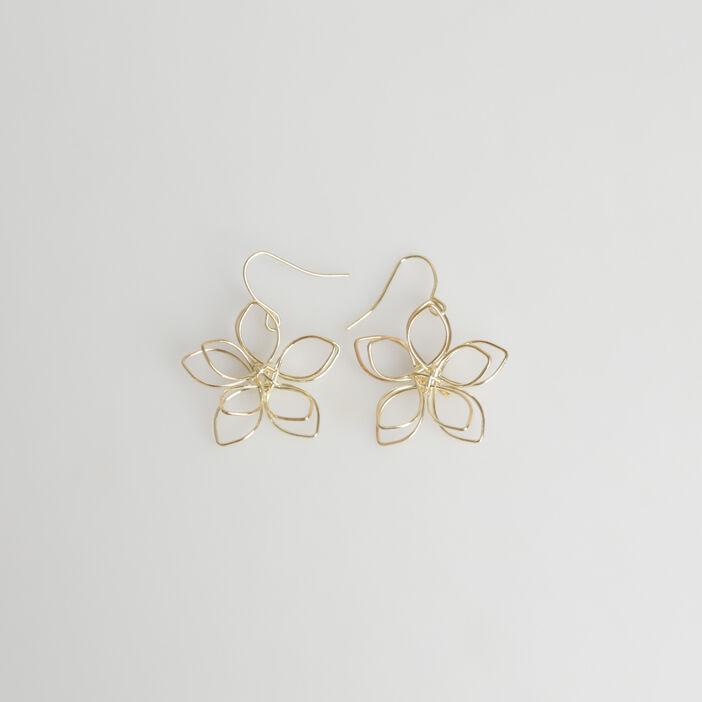 Boucles d'oreilles fleur couleur or femme
