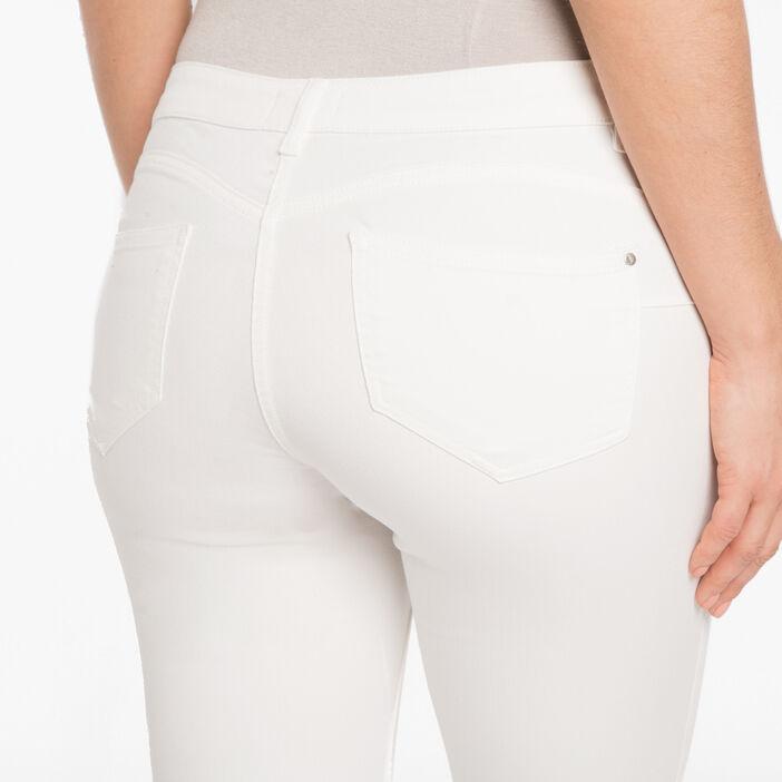 Pantalon 7/8ème fantaisie ecru femme