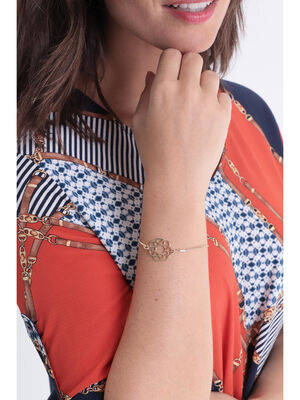 Bracelet fin medaillon couleur or femme