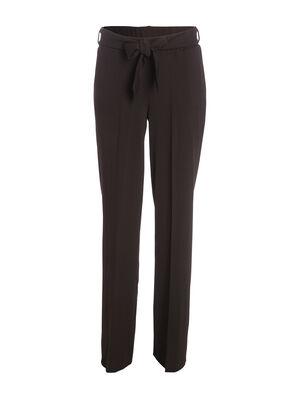 Pantalon droit taille haute noir femme