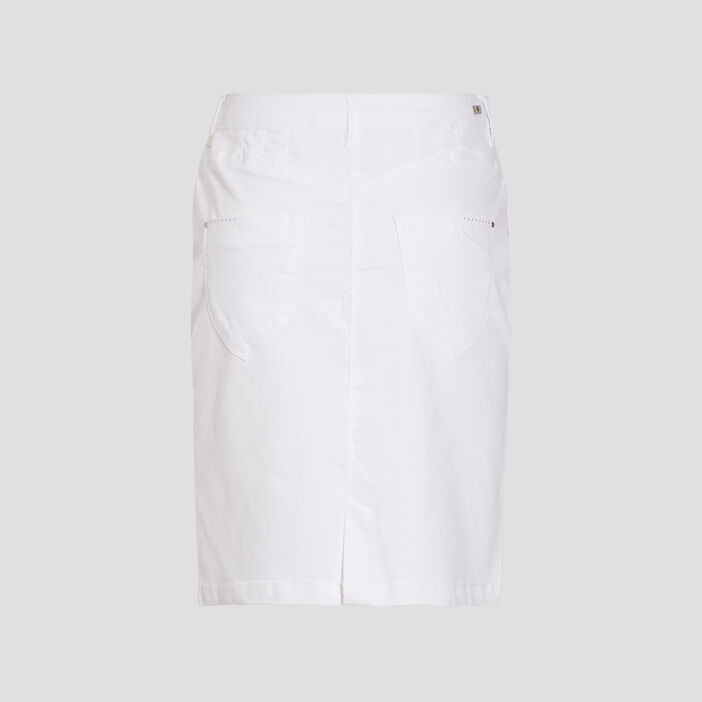 Jupe ajustée blanc femme