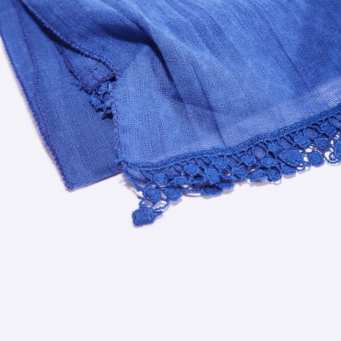 Foulard bleu electrique femme