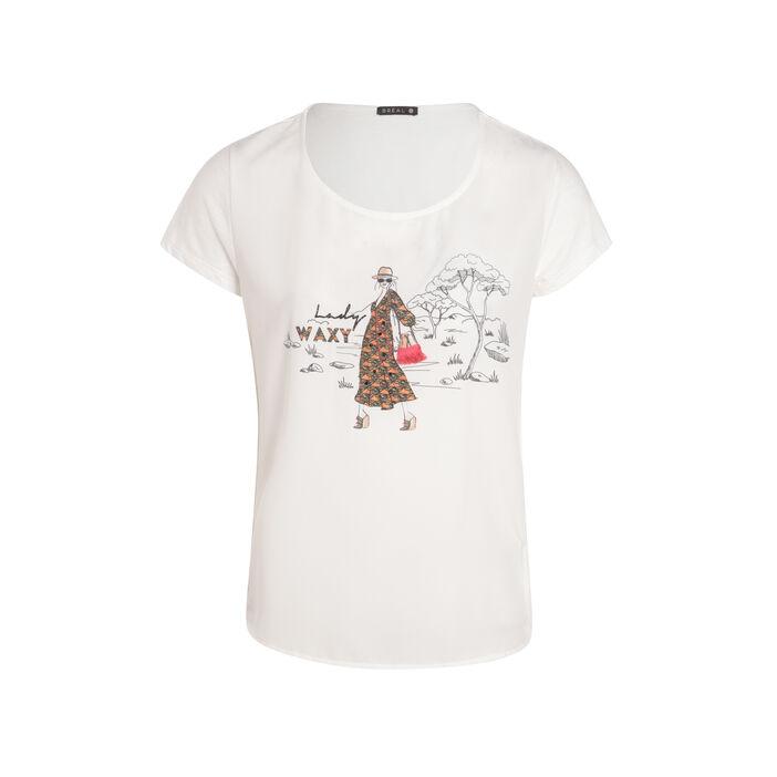 T-shirt imprimé Lady Waxy ecru femme