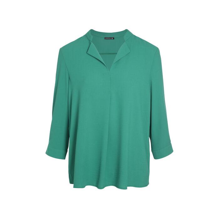 Liquette manches longues vert femme