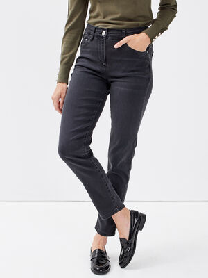 Jeans ajuste taille standard gris femme