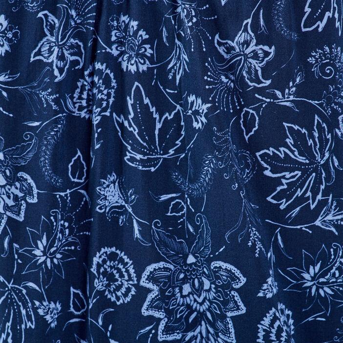 Blouse manches 3/4 bleu marine femme