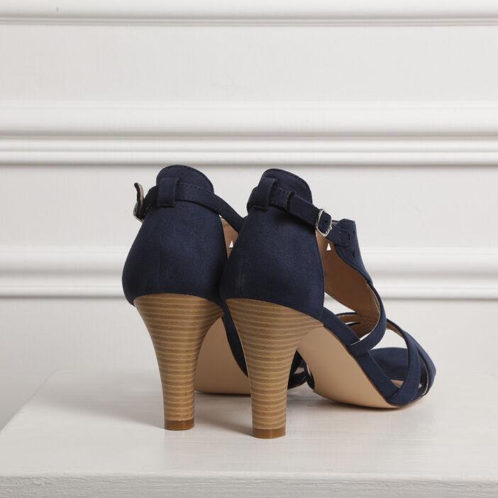 Escarpins à talons découpes bleu femme