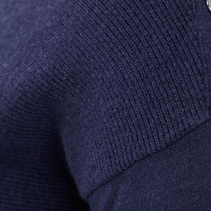 Pull manches longues bleu marine femme