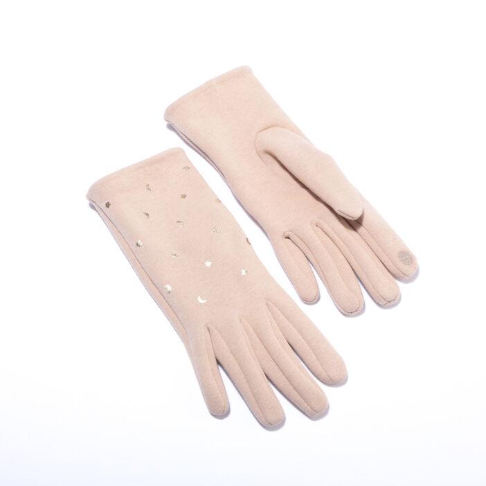 Lot écharpe et gants marron clair femme
