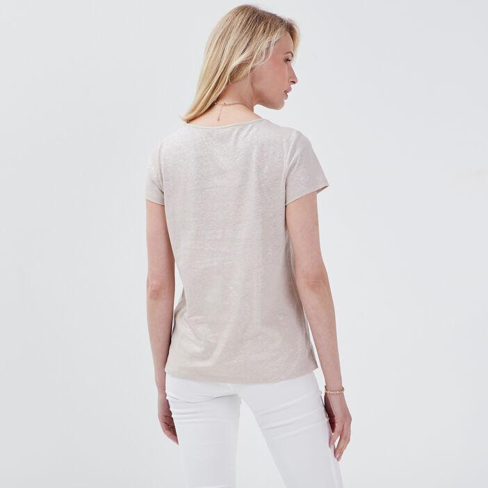 T-shirt manches courtes sable femme