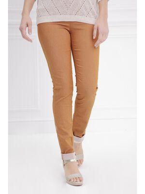 Pantalon ajuste push up camel femme