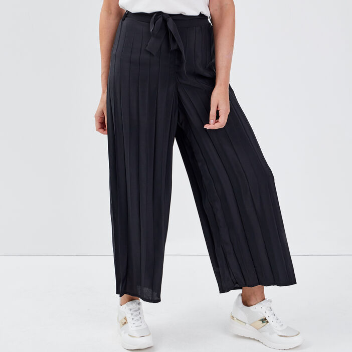 Pantalon ample taille standard noir femme