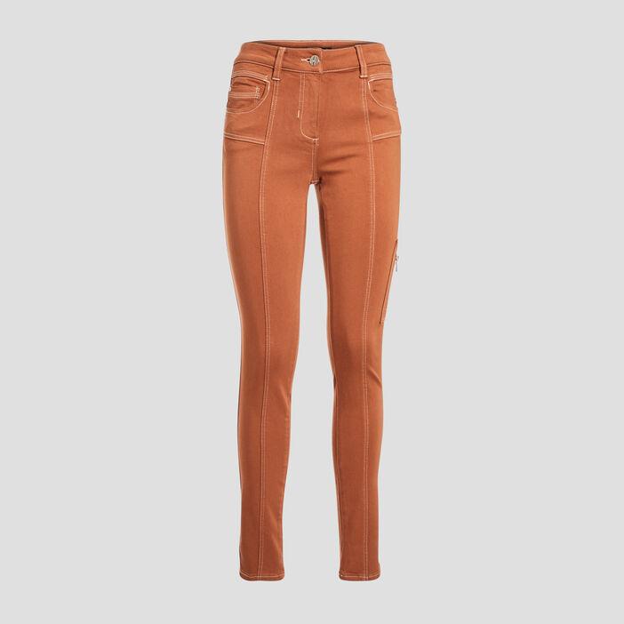 Pantalon 7/8 ème camel femme