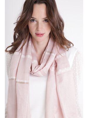 Foulard motifs brillants rose clair femme
