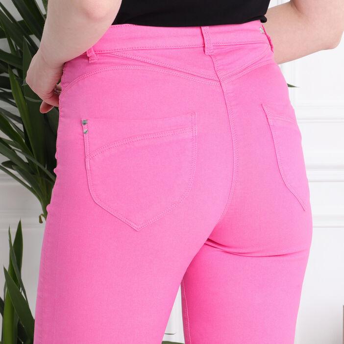 Pantacourt taille standard rose fushia femme