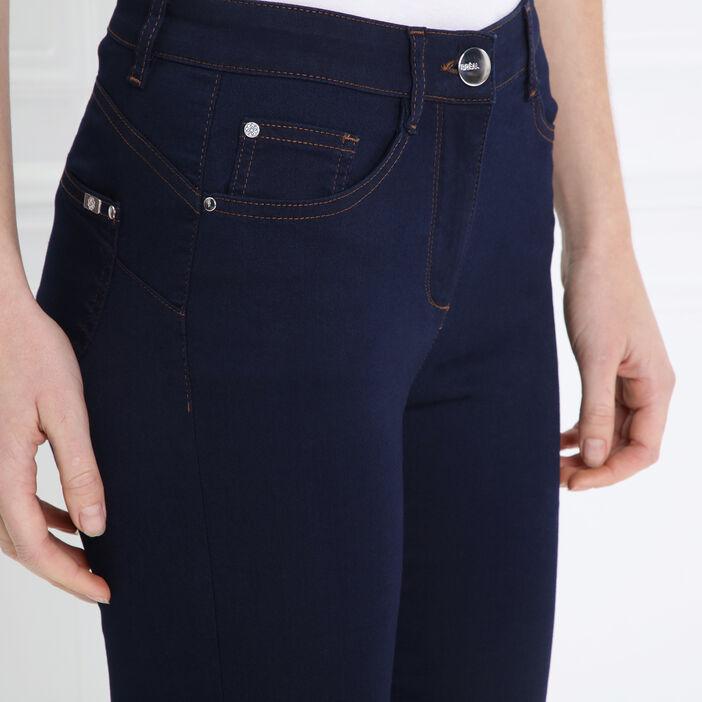 Pantalon léger toucher doux + pochette denim brut femme