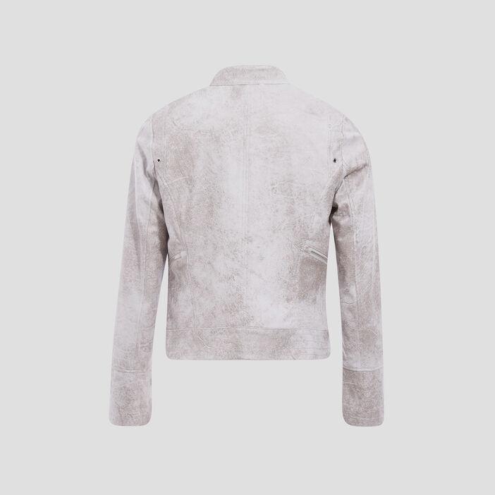 Veste coupe cintrée façon cuir gris femme
