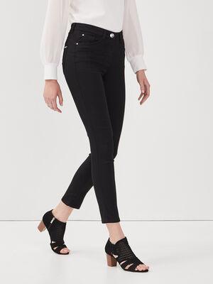 Pantalon leger toucher doux noir femme