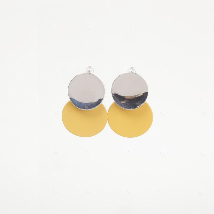 Boucles d'oreilles bimatière jaune or femme
