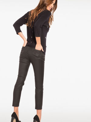 Pantalon enduit 78eme noir femme