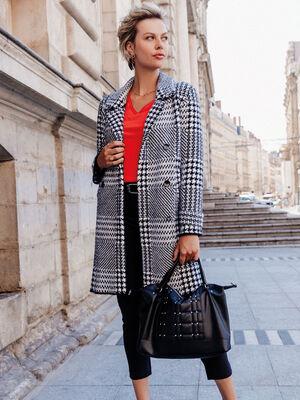Manteau droit ecru femme