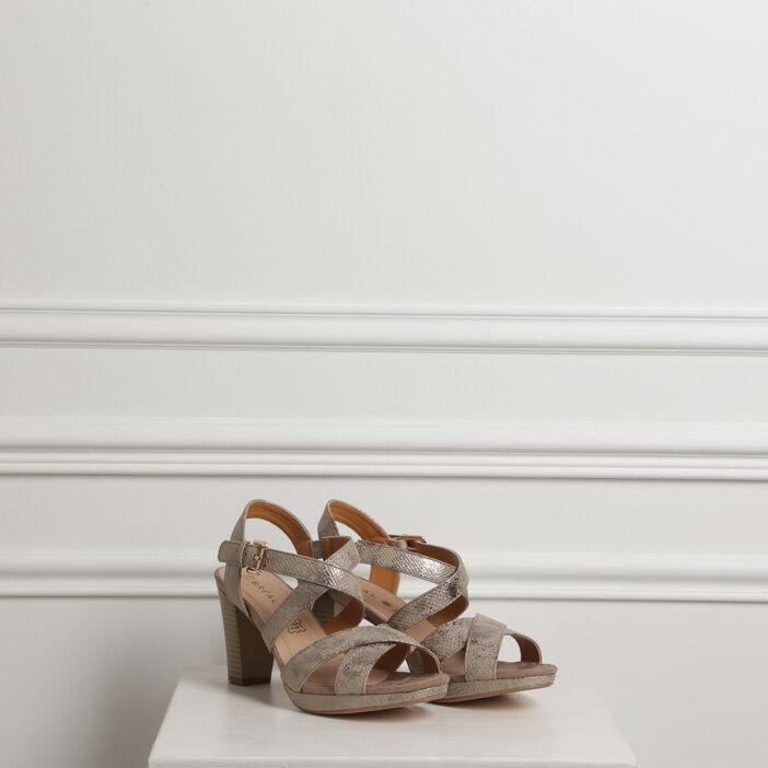Sandales à brides croisées sable femme