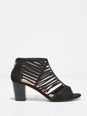 Sandales a talons multibrides noir femme
