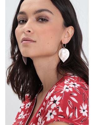 Boucles doreilles pendantes blanc femme
