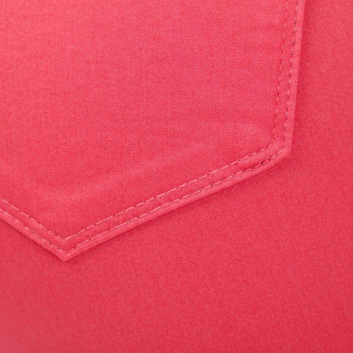 Pantalon ajusté taille haute rose vif femme