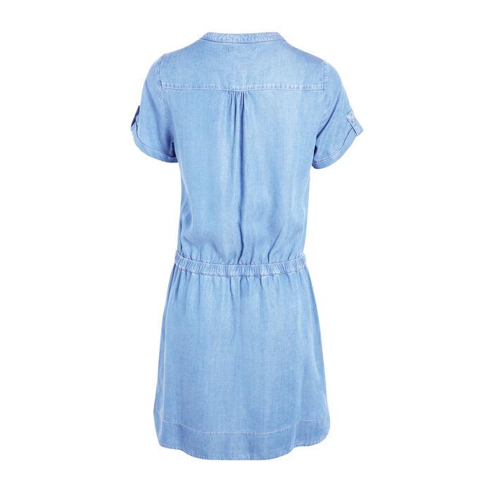 Robe courte ajustée en jean denim double stone femme