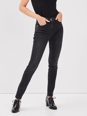 Pantalon long gris fonce femme