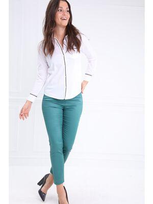 Pantalon enduit 78eme vert canard femme
