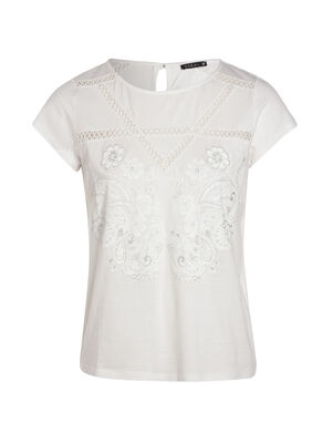T shirt uni blanc ecru femme