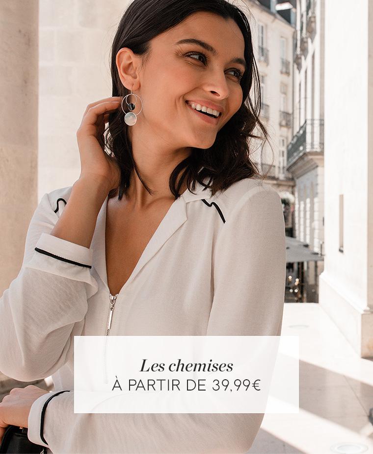 Les chemises - à partir de 39€99