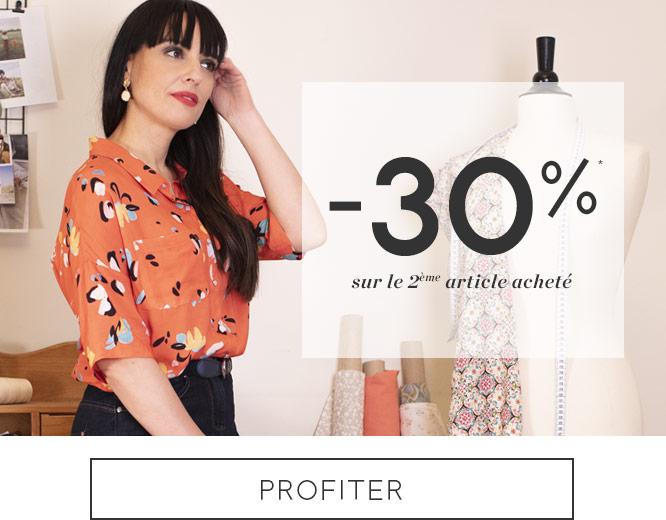 -30% sur le deuxième article achetés