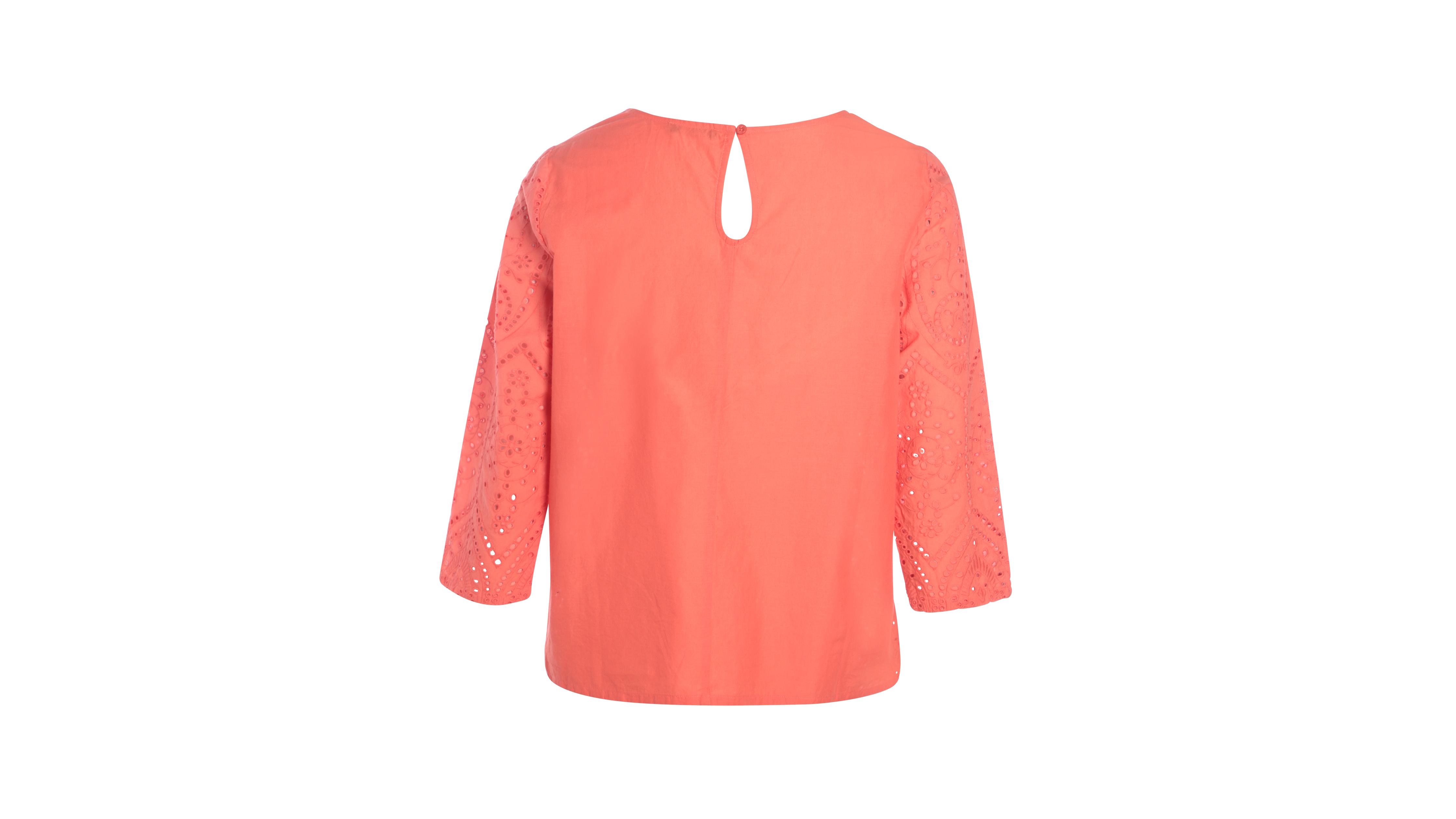 naranja coral bordada bordada Camisa Camisa YbfIygv76m