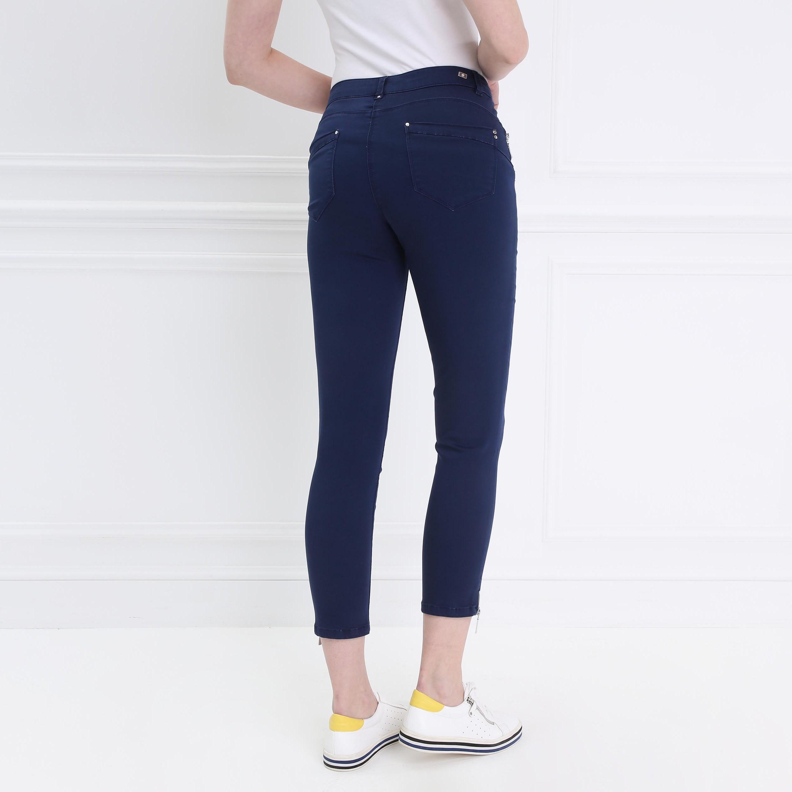 Foncé 78 Femme Satin Pantalon Bleu WrdCExBeQo