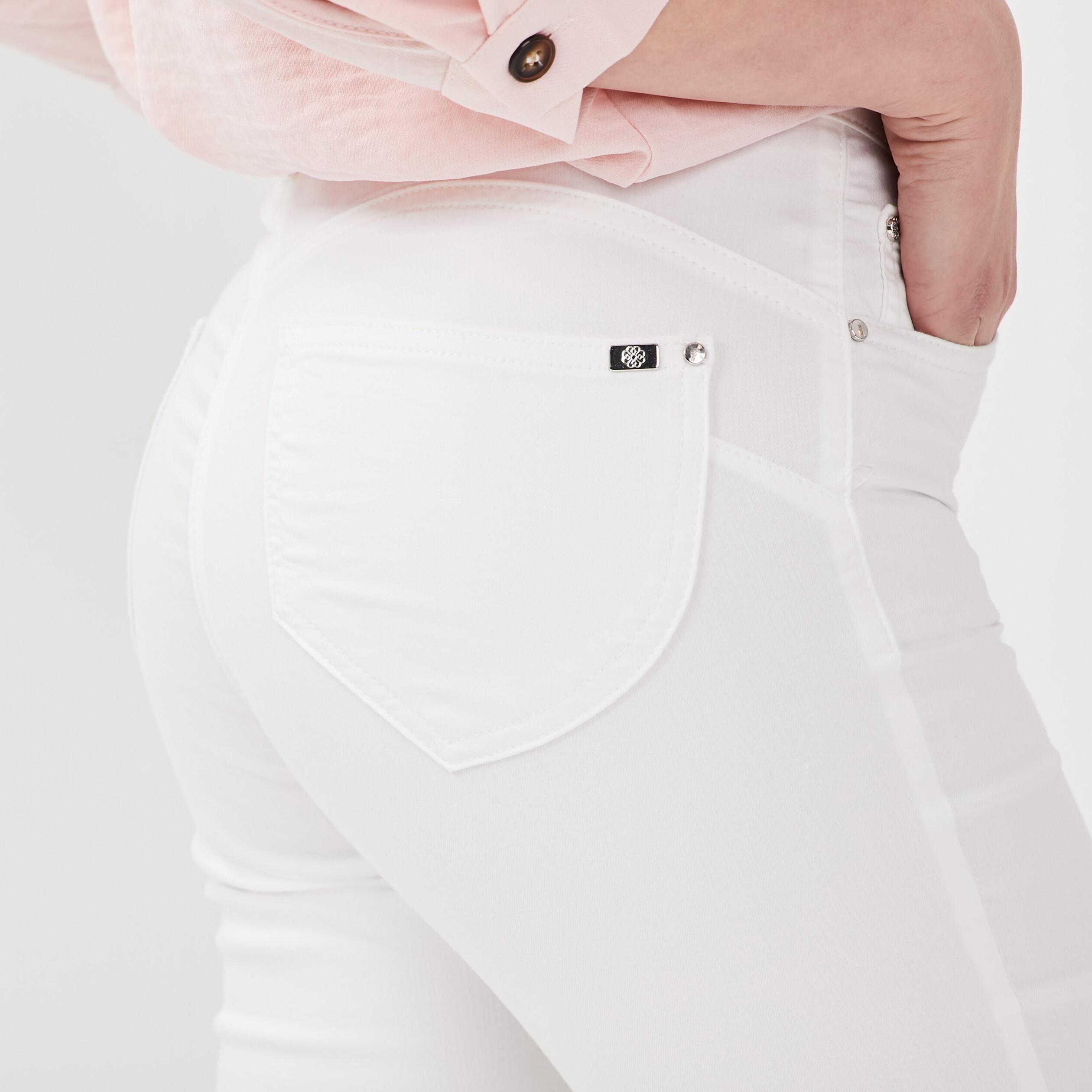 Blanc Toucher Femme Léger Pantalon Doux nkO0wP