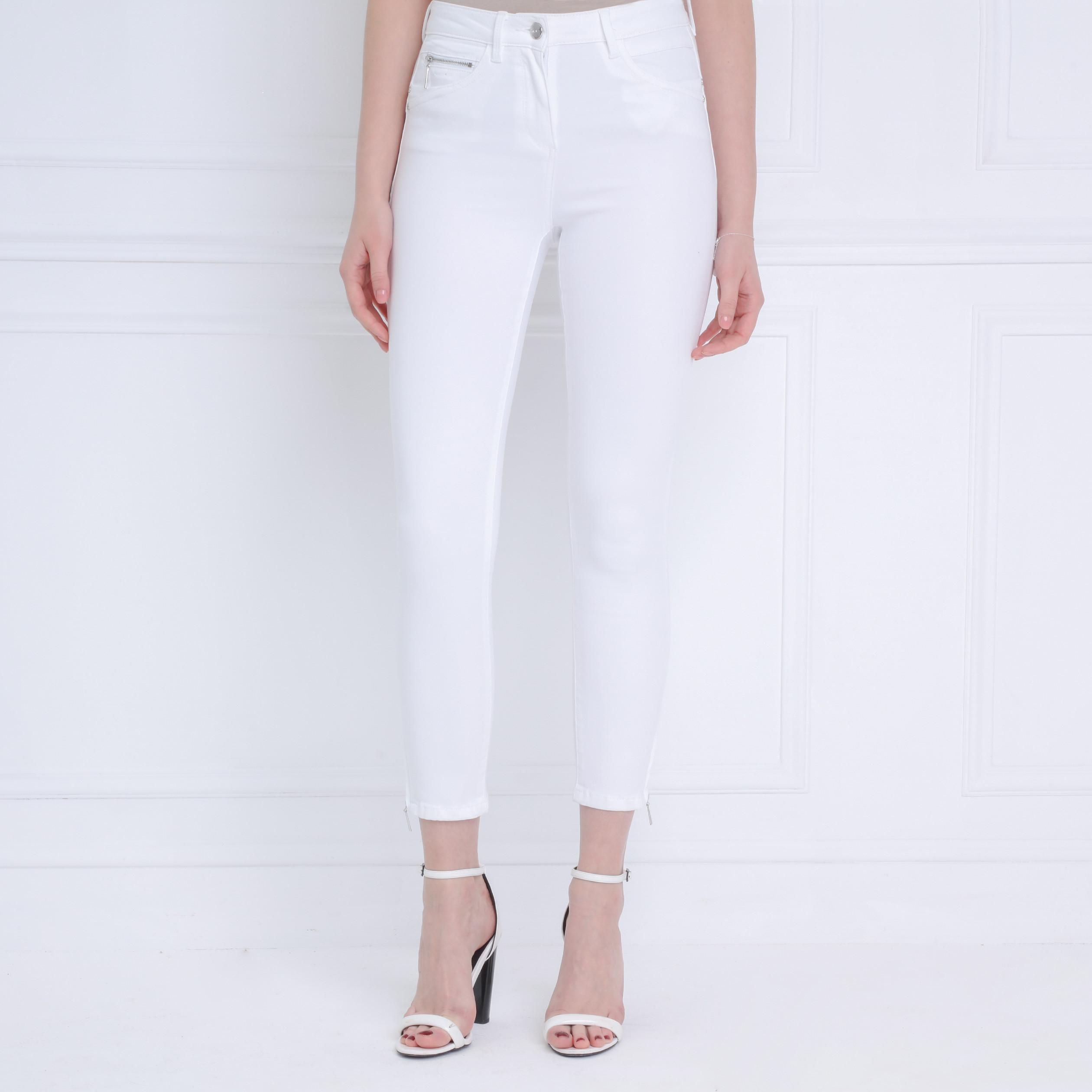 Pantalon Ajusté Taille Haute Blanc Femme | Bréal