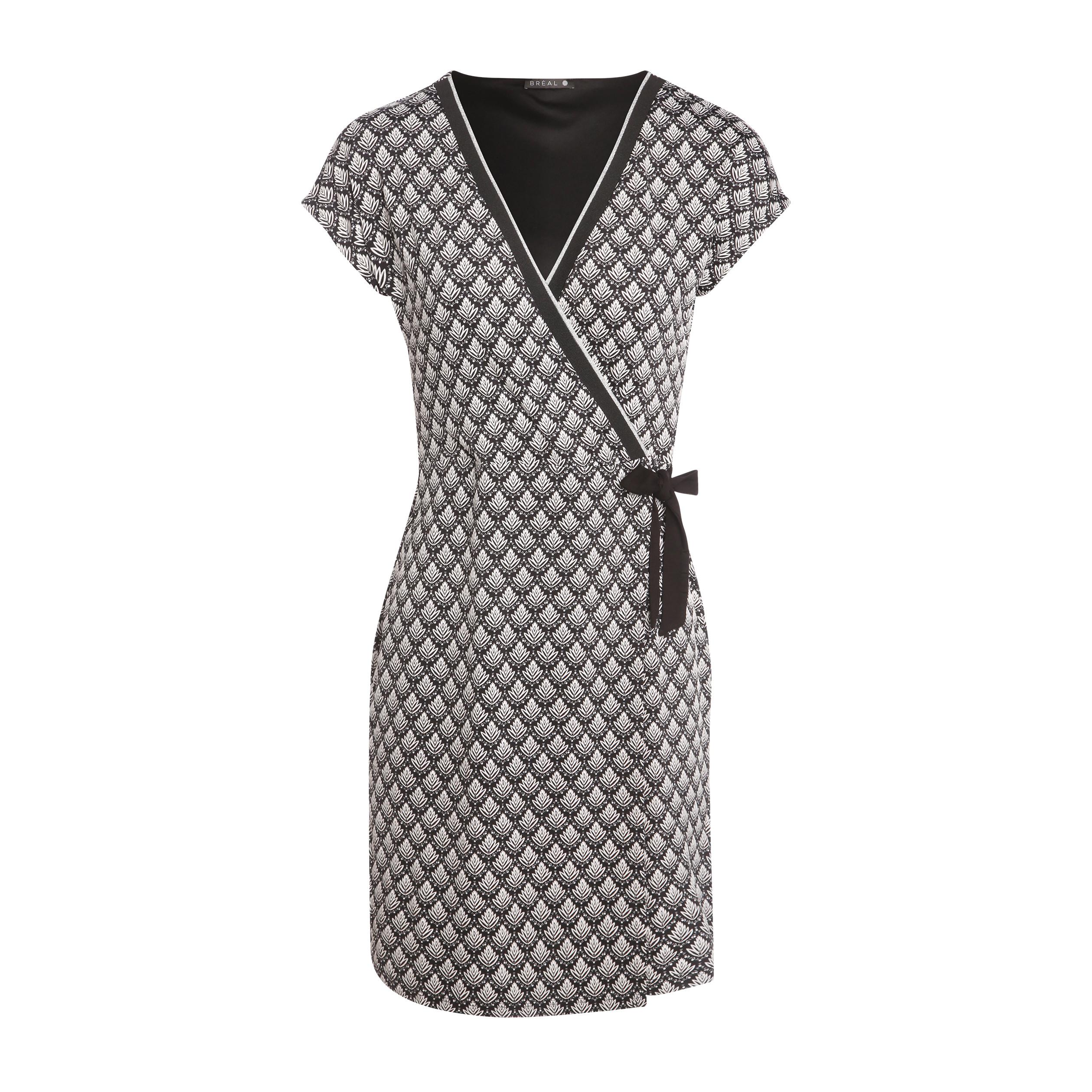 45a4560fd55 Robe courte portefeuille noir femme femme