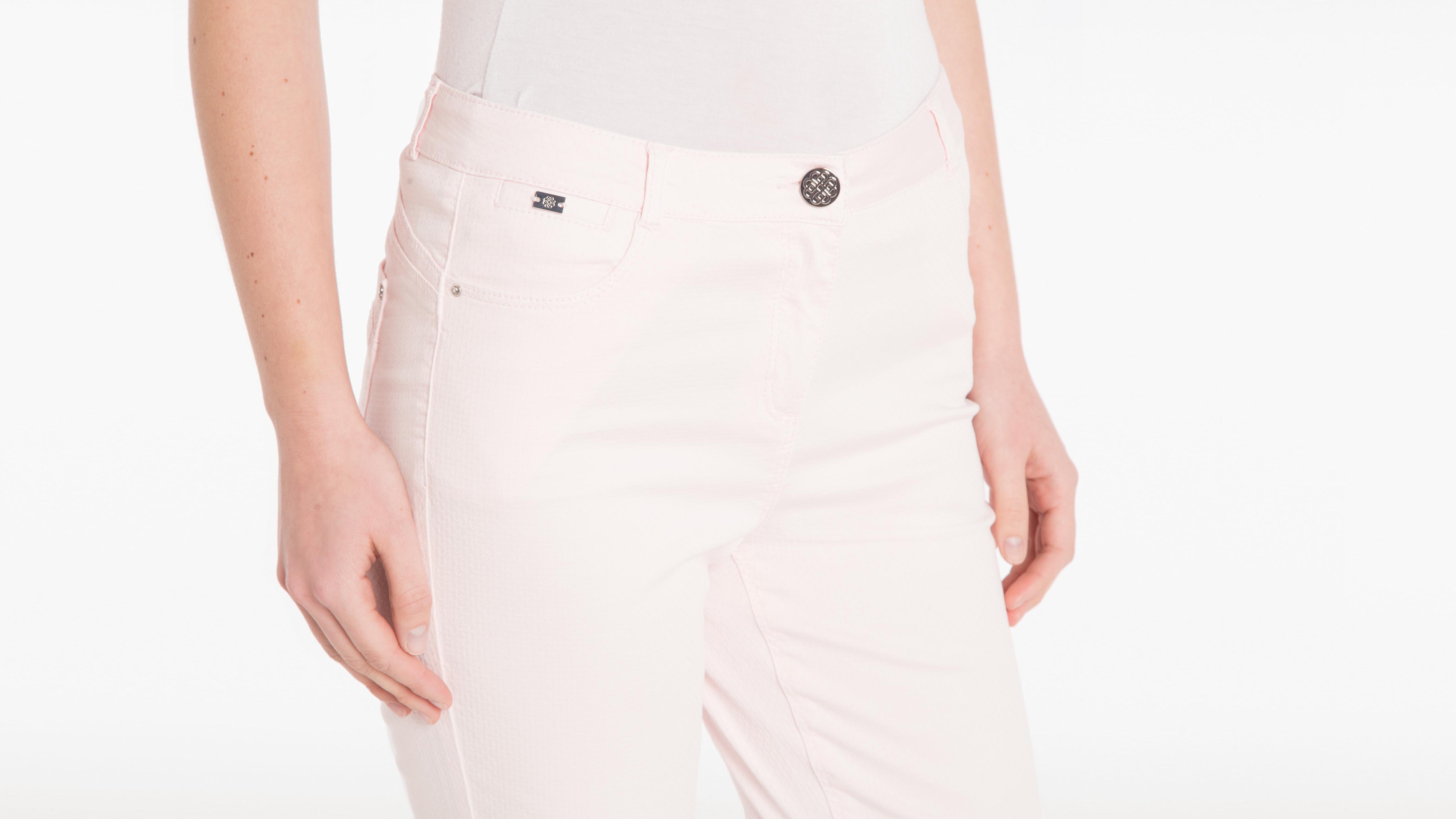 Slim Vieux Rose Uni Femme Coloris Pantalon xQtCshrd